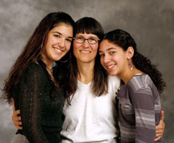 Mom with two daughters